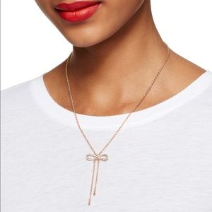 Kate spade ♠️ dainty sparklers bow y necklace